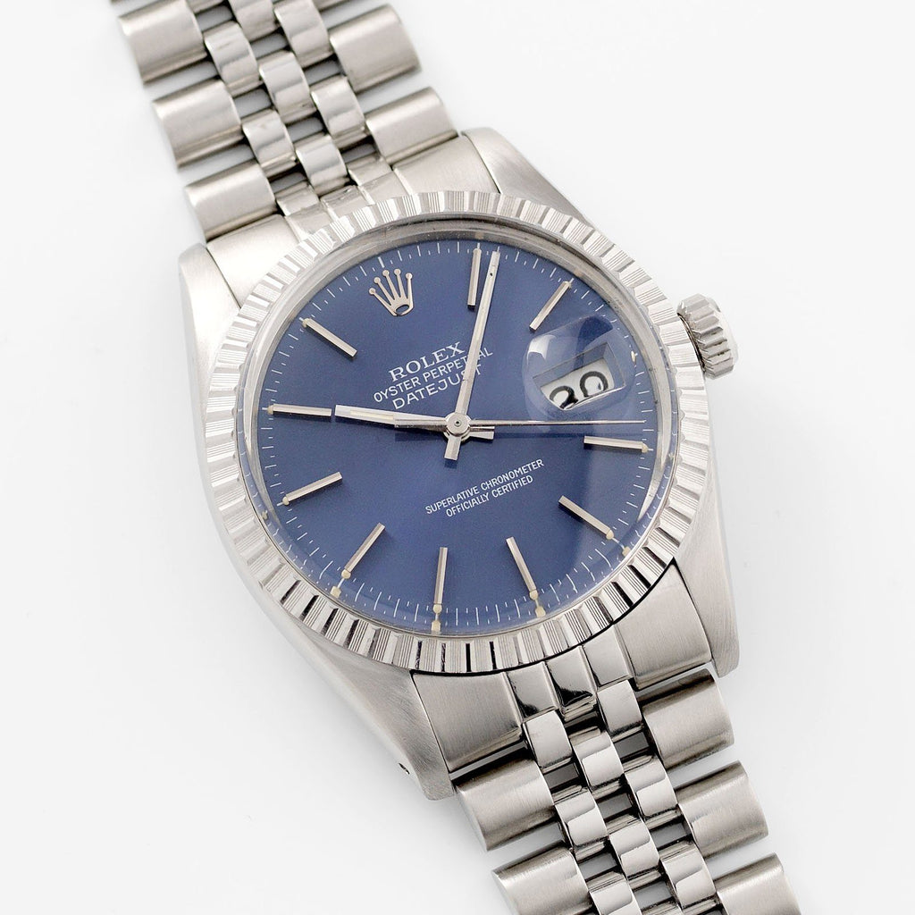 Rolex Datejust Blue Dial Reference 16030
