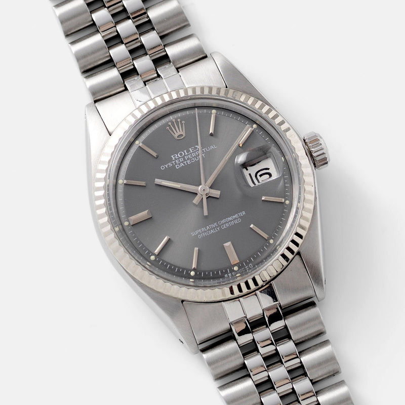 Rolex Datejust Grey Dial 1601 with papers