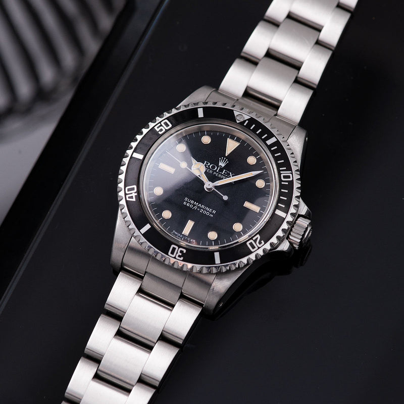 Rolex Submariner 5513 with White Gold Hour Markers