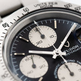 Tudor Oysterdate Chronograph Big Block Black Dial 79180
