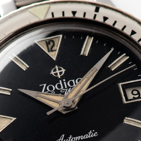 Zodiac Sea Wolf Gilt Dial with Original Bracelet