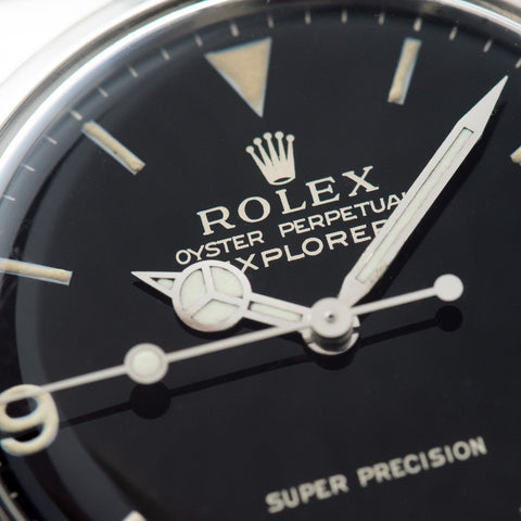 Rolex Explorer Gilt Dial Super Precision 5500