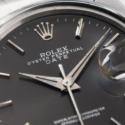 Rolex Date Reference 1500 Grey Soleil Dial