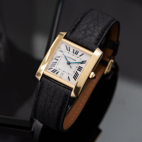 Cartier Tank Francaise Gold Ref 1840
