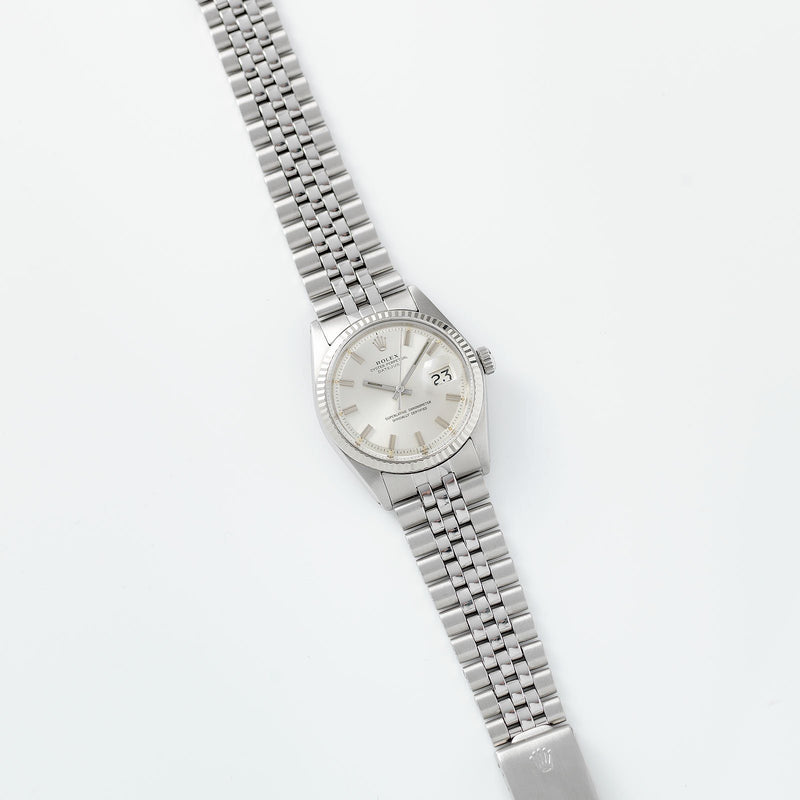 Rolex Datejust 1601 Silver Wide Boy Dial