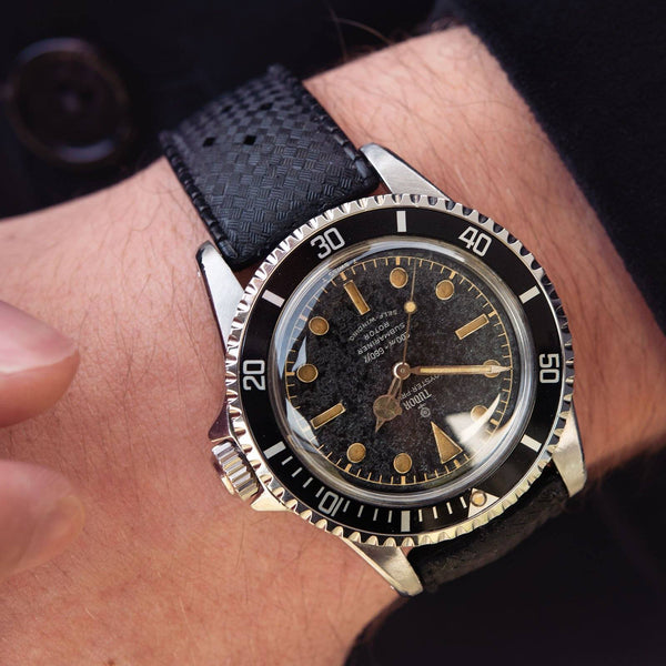 Tudor Pointed Submariner Ref 7928 with British Royal Navy History