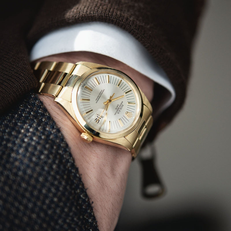 Rolex Yellow Gold Date Ref. 1500 Long Markers Dial