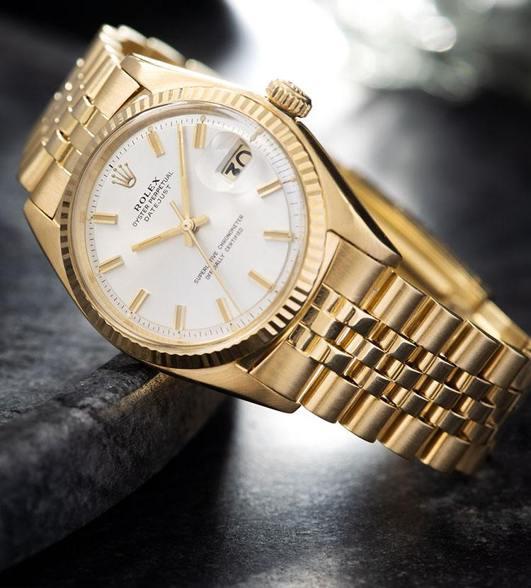 Rolex Datejust Yellow Gold 1601 Silver Dial