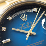 Rolex Day-Date Blue Dégradé Dial 18028