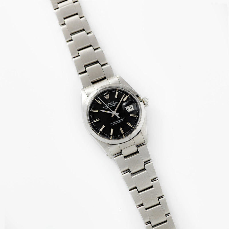 Rolex Datejust Black Pie Pan Dial Reference 1600