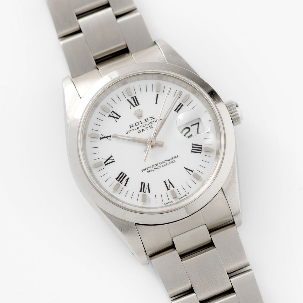 Rolex Date Reference 15200 White Porcelain Dial