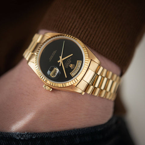 Rolex Day-Date Onyx Dial 18038