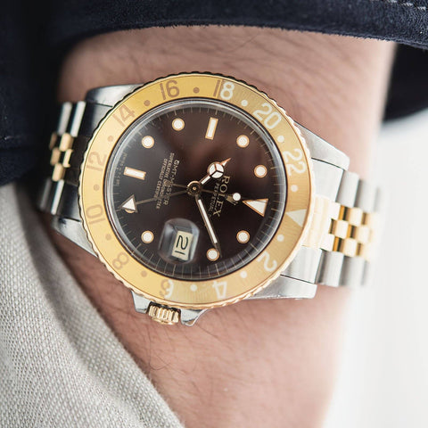 Rolex 16753 Brown Dial GMT Master