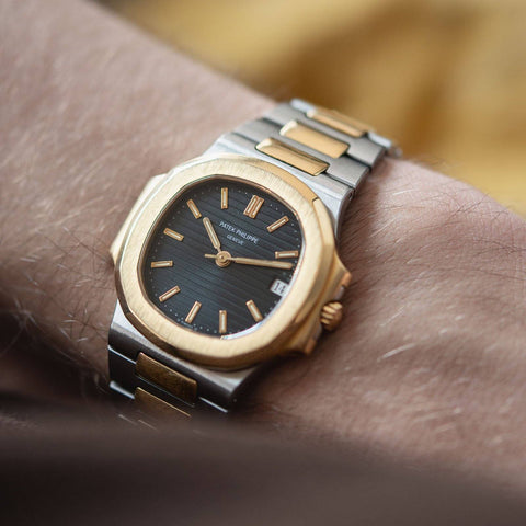 Patek Philippe Nautilus Ref 3800 Steel and Gold