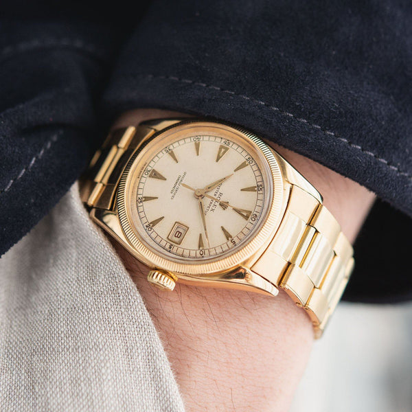 Rolex Ovettone Datejust Yellow Gold Reference 6155