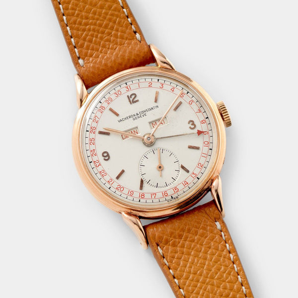 Vacheron and Constantin Triple Date Calendar 4240 Pink Gold