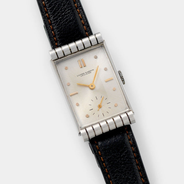 Ulysse Nardin Rectangular Art Deco Dress Watch 1940s