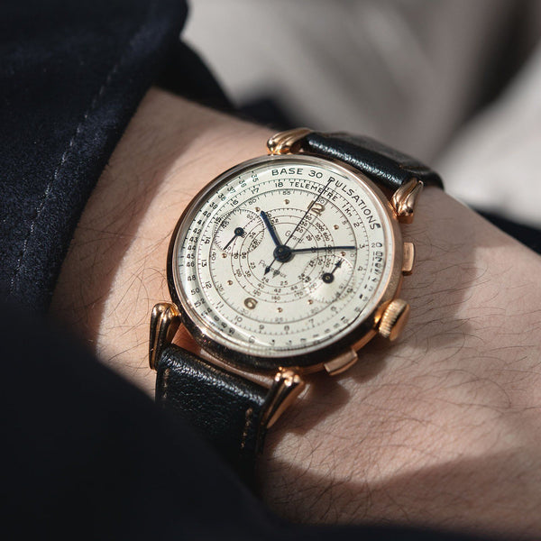 Girard Perregaux Pink Gold Pulsations Chronograph 1950s
