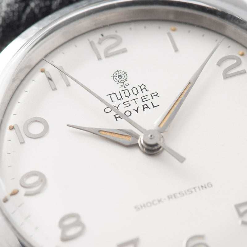 Tudor Oyster Royal Rare Arabic Silver Dial Reference 7934