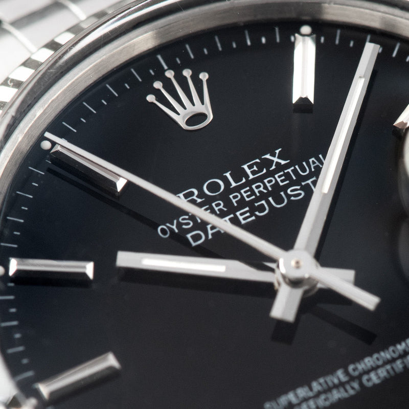 Rolex Datejust Black Dial Reference 16014