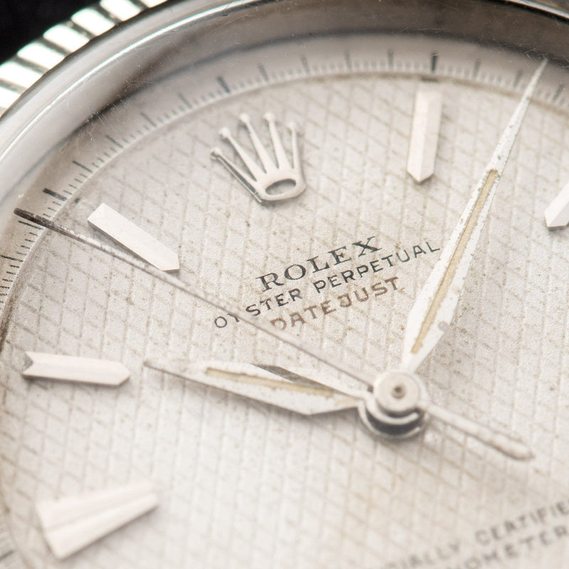 Rolex Datejust Ovettone White Honeycomb Dial 6306