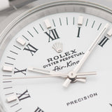 Rolex Air King Ref 14000 White Porcelain Dial Box and Papers