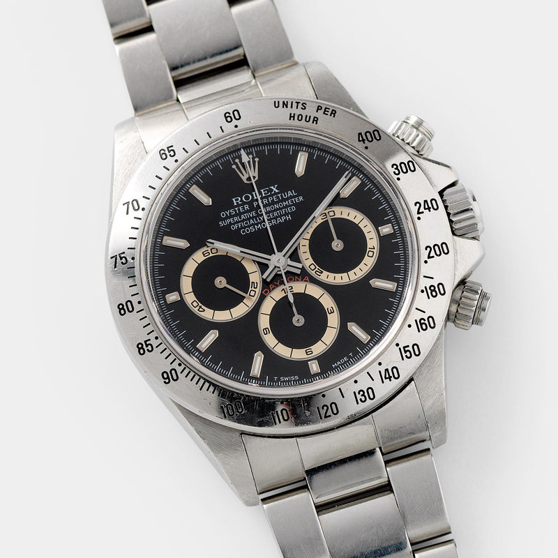Rolex Daytona Steel 16520 Black Dial U-Series