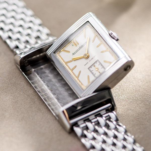 Jaeger le Coultre Reverso Signed Favre Leuba Stainless Steel