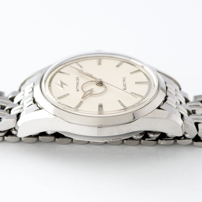 Wittnauer Electric Watch Silver Dial Lightning Hands