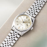 Rolex Datejust Silver Soleil Dial Rare Early 1603