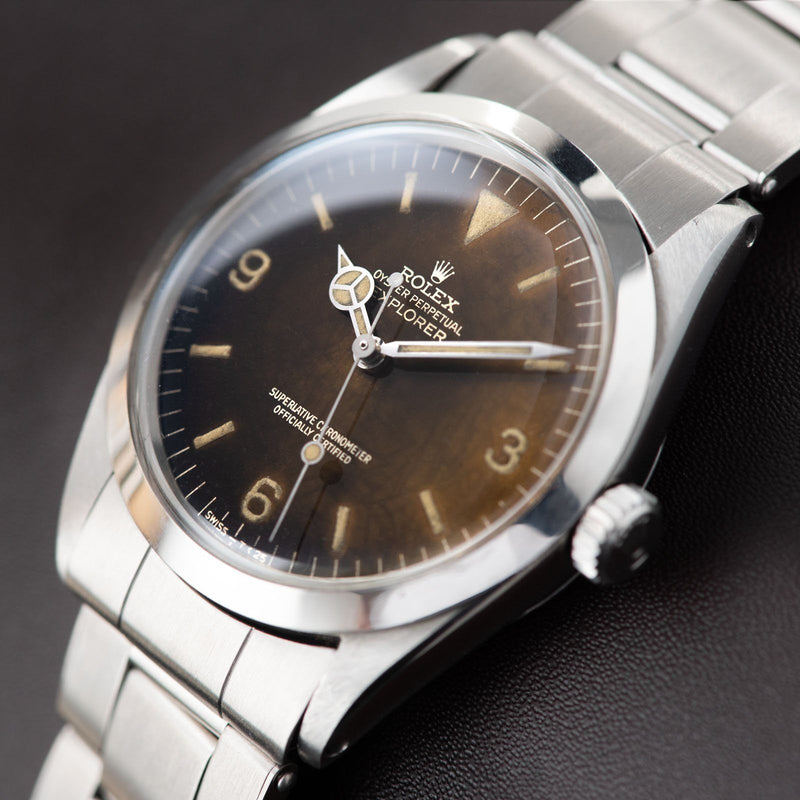Rolex Explorer Gilt Tropical Dial Reference 1016