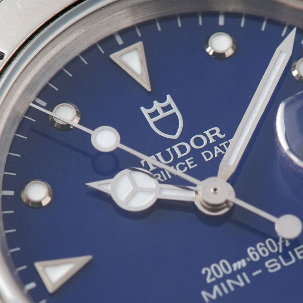 Tudor Submariner Prince Date Gloss Blue Dial Reference 73190