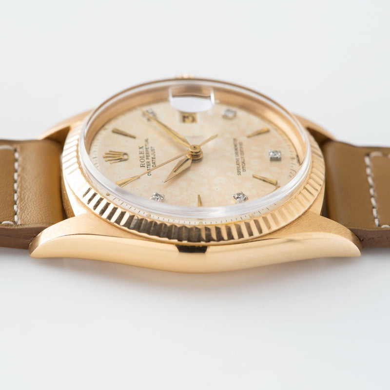 Rolex Datejust Pink Gold 1601 Pink Diamond Dial