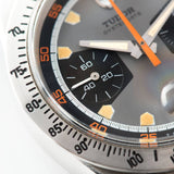 Tudor Home Plate Chronograph 7032 Box and Papers with Brushed steel tachymeter bezel