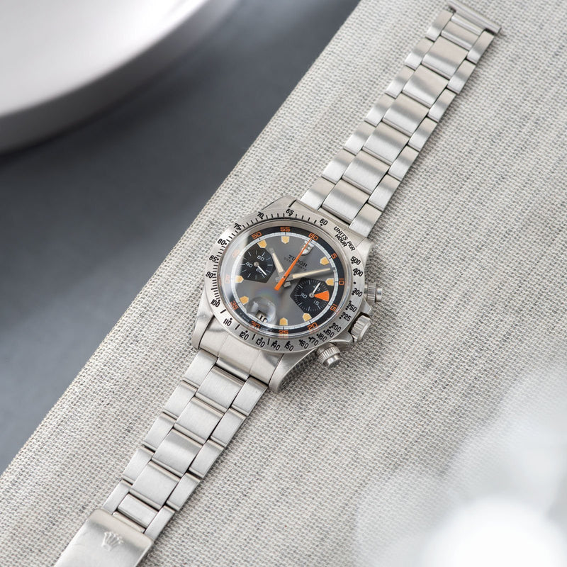 Tudor Home Plate Chronograph 7032 Box and Papers with  folded link Oyster bracelet