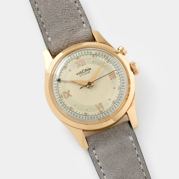 Vulcain Cricket Rose Gold Alarm Watch