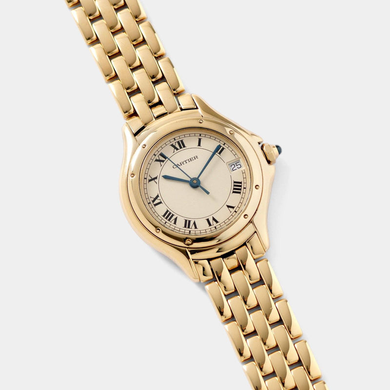 Cartier Cougar 18kt Yellow Gold Ladies Watch