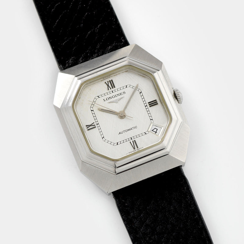 Longines Octagonal Dress Watch Linen Dial Reference 4817