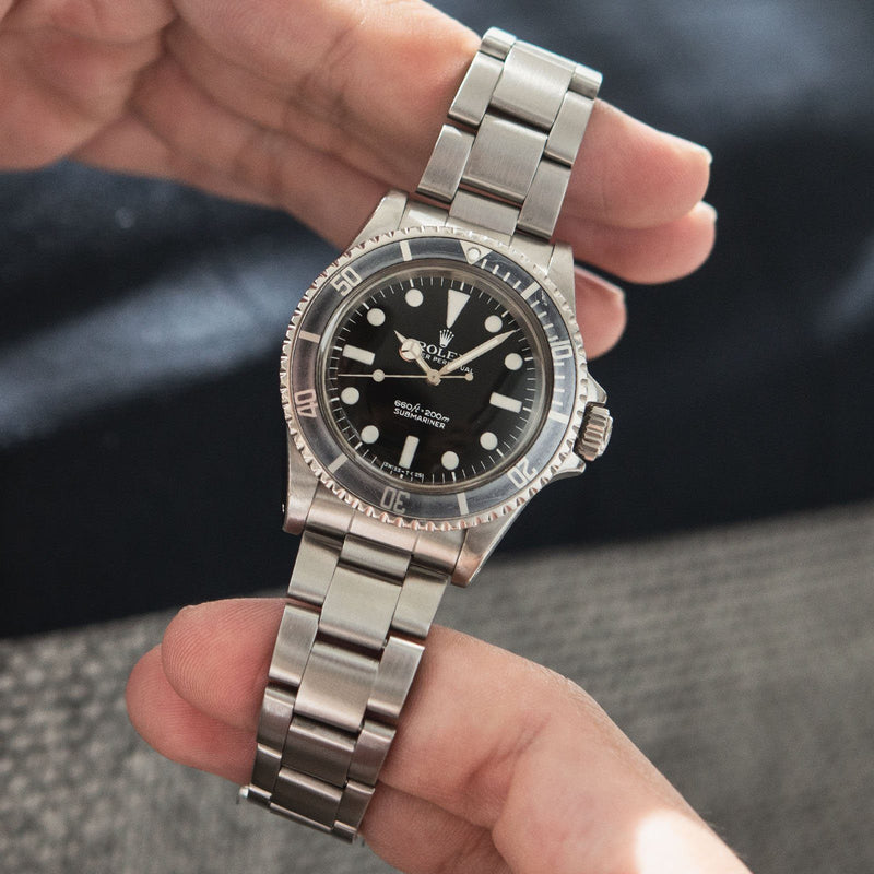 Rolex Submariner Mk 1 Maxi Dial 5513 from 1977 with white tritium dial and hands