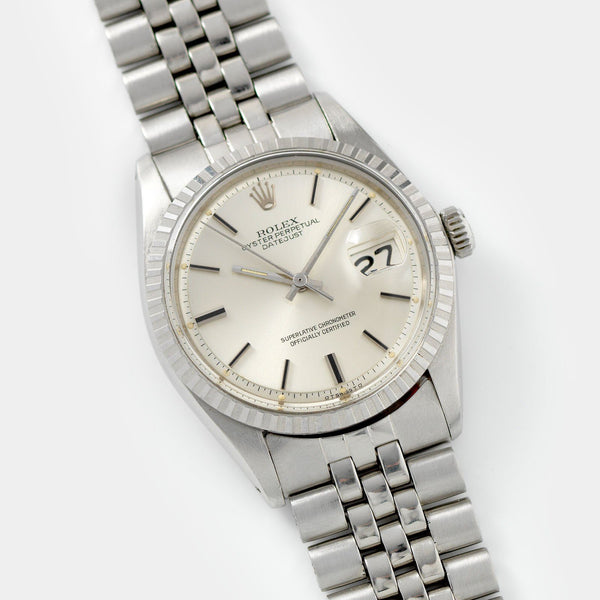 Rolex Datejust Silver Sigma Black Markers Dial 1603
