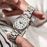 Rolex Datejust Reference 16030 White Buckley Dial on Oyster bracelet
