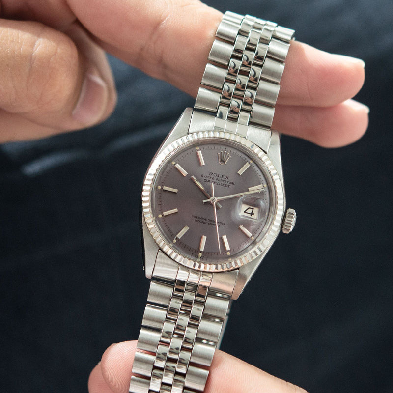 1970 Rolex Datejust 1601 Lavender Colour Change Dial
