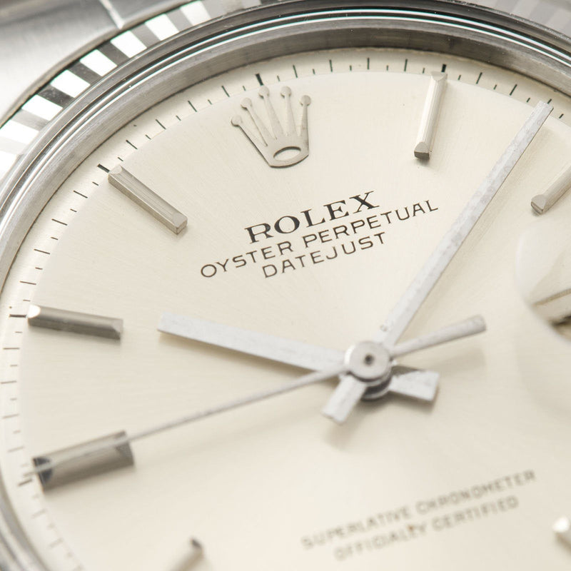 Rolex Datejust 1601 Silver Pie Pan Dial