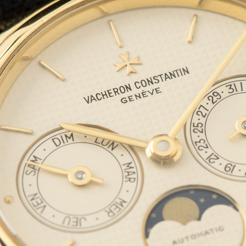 Vacheron Constantin  Patrimony Day Date Moonphase Yellow Gold Ref 47009-0003-J