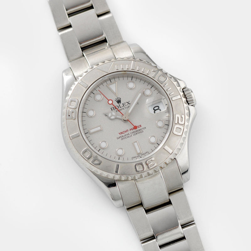Rolex Yacht Master Mid Size Steel Reference 168622 Punched Papers