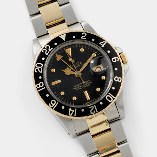Rolex 16753 Black Nipple Dial GMT Master Two-tone