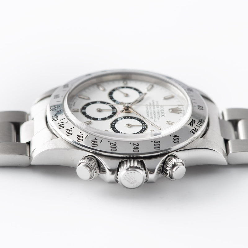 Rolex Daytona Steel 16520 White Dial with a Zenith movement