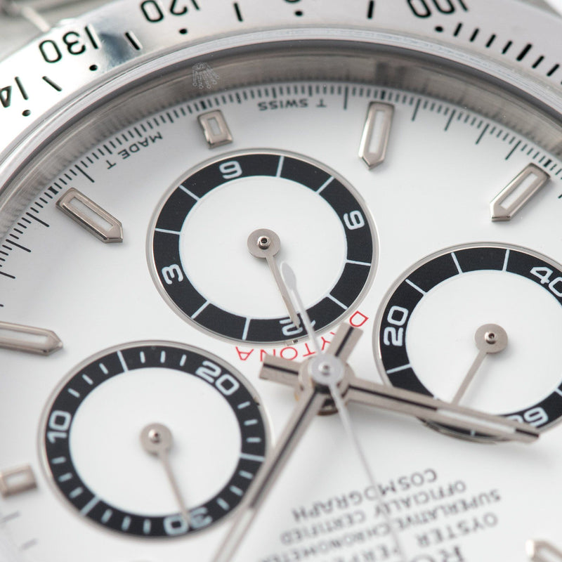 Rolex Daytona Steel 16520 White Dial with  'T SWISS MADE T' markings