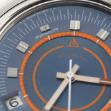 Jaeger Lecoultre Memovox Ref E873 Speed Beat with a blue soleil dial