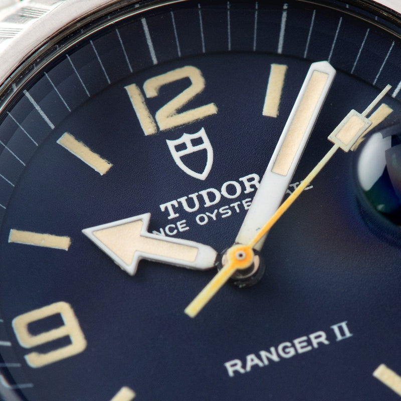 Tudor Ranger 2 Blue Dial Reference 9111/0 with a deep pie-pan dial in blue